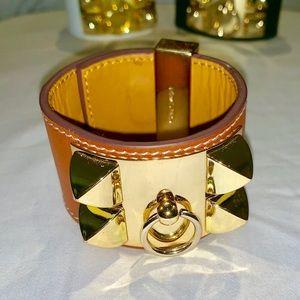 Hermes Collier de Chien bracelet studded Cuff Sm.